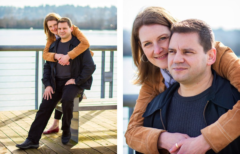 heidi and darcy engagement at the New Westminster Quay