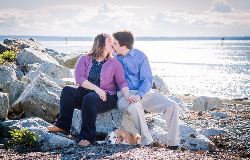jenny and matt engagement in crescent beach